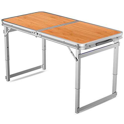 Draagbare klaptafel en stoelen - met handgrepen en verstelbare hoogte poten outdoor metaal - opklapbare computer tafel - camping picknick