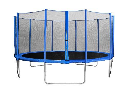 SixJump 3,05 M Trampolino per Il Giardino Blu Copertura Anti-Pioggia TB305//1693 Scaletta SixBros Rete di Sicurezza