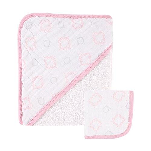 Hudson bébé Mousseline Serviette à capuche avec gant de toilette