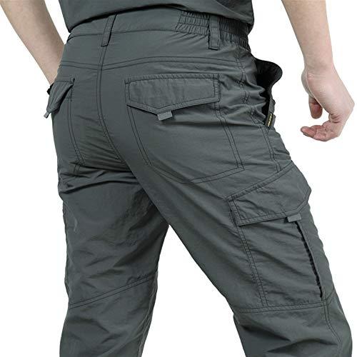 DFGRFN Pantalones Impermeables para Hombre Pantalones tácticos Ligeros livianos Transpirables Casual Militares Pantalones Largos Masculinos Pantalones de Carga de Secado rápido