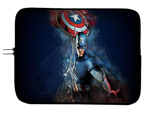 Captain America Superhero Laptop Notebook Tablet Case Sleeve Bag 13 13.3' Mac Book Pro/Mac Book Air Surface Pro Laptop/Tablet Water Repellent Neoprene Cushioned Case