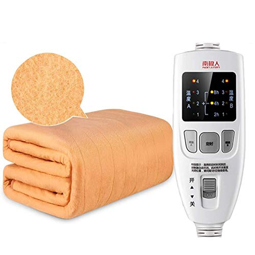 HFS Elektrische verwarmingsdeken, ultrazacht, verwarmend deken, stralingsbescherming zonder thermostaat, 4 Maj thermostaat, dubbele thermostaat, 200 x 180 cm