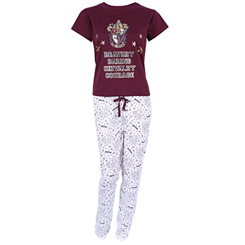 Pijama Burdeos-Crema Gryffindor Harry Potter - Large