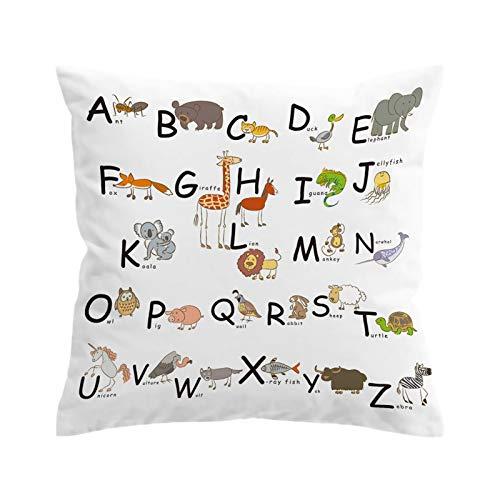 KORANGE Fundas para Cojines con Cremallera Oculta Microfibra (Color : Letters, Size : 18' x18'(45cmx45cm))