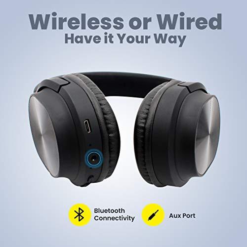 pTron Studio Classic Over Ear Wireless Headphones with Bluetooth 5.0