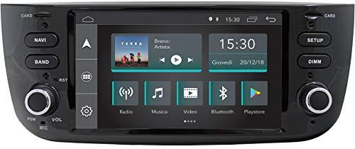 """Jfsound, Autoradio Custom Fit, Fiat Punto Evo, con Android 8.1 4Core, GPS Integrato e Schermo 6.2"""", Easyconnect"""
