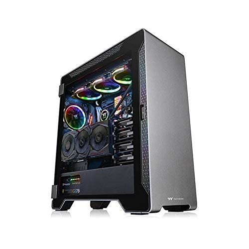Thermaltake A500 TG (Tempered Glass) Space Gray PC-Gehäuse, schwarz