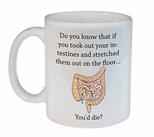 Funny Intestinal Fact Coffee or Tea Mug - Doctor Gift - Nurse Gift - Medical Student Gift