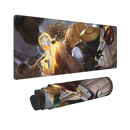 LOL Legends Mouse Pad Large Gaming Mouse Pads with Polyester Material and Non-Slip Rubber Base Design