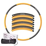 [Amazonブランド] Eono(イオーノ) フラフープ 重い フラフープ ダイエット 人気 重い 大人用 子供用 組み立て式 hula hoop 8本 最大直径98cm(4オレンジ+4グレー)-1.2kg