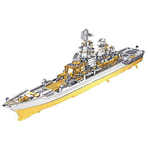 piececool Metal 3D Puzzles für Erwachsene- Russian BATTLECRUISER Pyotr VELIKIY Battleship-Metal Modellbausatz für Erwachsene
