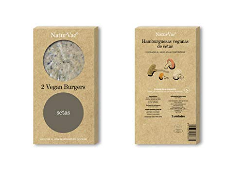 Natur Vac - Hamburguesa Vegana de Setas - 100% Natural - 2 ud. 180g