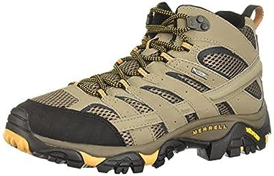Merrell Men's Moab 2 Mid Gtx Hiking Boot, Walnut, 7 M US