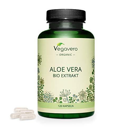 Aloe Vera BIO Vegavero® | Qualité FRANÇAISE | Extrait de Gel d'Aloe Vera Pur 100% Naturel | Sans Additifs | Digestion + Antioxydant Puissant + Détoxifiant | 120 Gélules | VEGAN