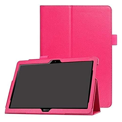 GYY Accesorios de pestañas para Huawei MediApad T3 10 AGS-L09 AGS-L03 9.6, Tablet Soporte de Cuero Inteligente Funda PU Funda PU para la Play Play 2 9.6' (Color : Rose Red)