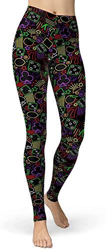 Bernice Winifred Splash artístico para Mujer Leggings los Estampados Pantalones Blandos cepillados y Regulares NeonPoker