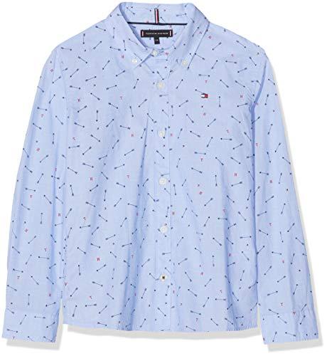 Tommy Hilfiger Jungen Arrow Allover L/S Langarmshirt, Blau (Shirt Blue 474), 152 (Herstellergröße: 12)