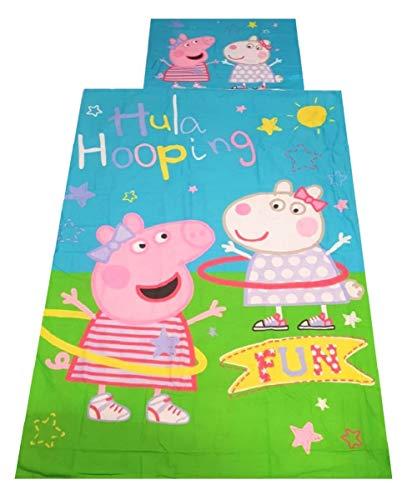 Textiel voor kinderen, beddengoed met motieven uit tv-series, beddengoed voor jongens en meisjes, kussensloop 70x90cm, dekbedovertrek 140x200cm (Marvel Avengers) (Peppa Pig)