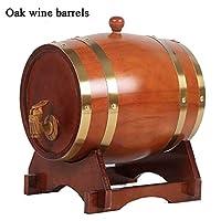 自分のウィスキービールワインバーボンブランデーホットソースマルチカラーの選択を保存するために建てられた1.5L、3L、5L、10Lヴィンテージウッドオーク木材ワイン樽オーク樽の保存 (Color : Red, Size : 1.5L)