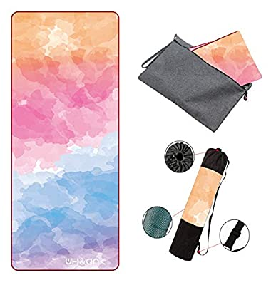 TXK Yoga Mat Non Slip Hot Yoga Mat,Eco-Friendly Natural Rubber   Best for Yoga, Pilates, Exercise, Workout, Bikram and Hot Yoga. Luxury Sweat- Grip Mat. (Yun-1.5mm, 72in×27in×1.5mm)