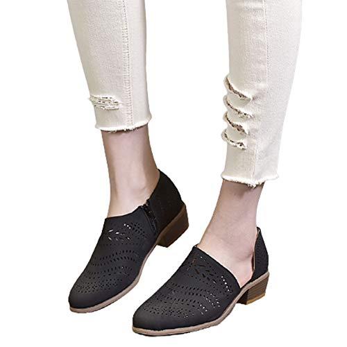 Top 10 best selling list for black flat shoes asymmetrical side cut