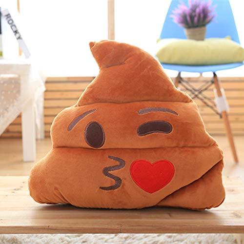 Tina Emoji Kissen Sitzkissen,dekorative Kissen Big Poop Smiley Gesicht Plüsch Emoticons Pad Für Bürostuhl-e 23x25cm(9x10inch)