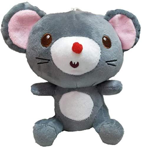 NC56 Muñeco de ratón deDibujos Animados de algodón Gris PP deJuguete de Felpa de ratón de simulación de 18 cm
