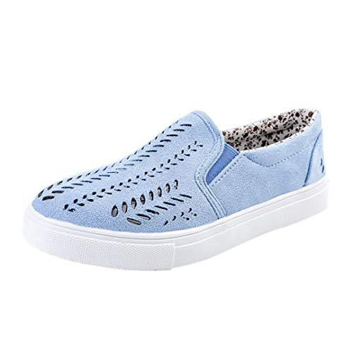 Covermason Zapatos Zapatos de tacón plano, casuales ahuecados desde la plataforma de los pies