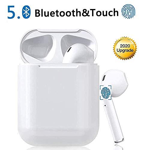 BSJOZ Auricular Bluetooth 5.0, Auricular Interno con Caja de Carga, función de...