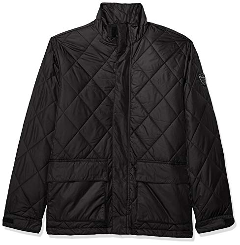 Emporio Armani Herren Mountain Knit Jacket Daunenmantel, schwarz, X-Large