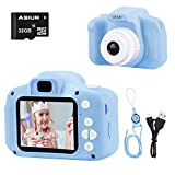 ASIUR Camera for Kids,1080P FHD Digital Video Children Camcorder - 2.0' IPS Screen Rechargable Toy Cameras Recorder for Boys Girls,Blue