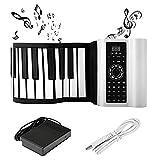 SEAAN - Piano digital Bluetooth enrollable de 88 teclas, piano portátil con 140 tonos, 80 demostraci...