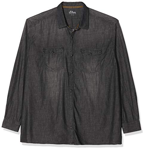 s.Oliver Big Size Herren 15.909.21.3445 Jeanshemd, Grau (Charcoal Denim Stretch 98z4), XXX-Large (Herstellergröße: 3XL)