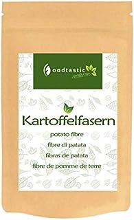 Foodtastic Kartoffelfasern 1100g / 1,1kg   Hoher Ballaststoffgehalt und kohlenhydratarm   Kartoffelfasermehl, glutenfrei und ohne Allergene