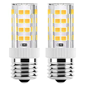Microwave Oven Appliance 4W E17 LED Bulb  40W Halogen Bulb Equivalent  Warm White 3000K Non-Dimmable Ceramic Body Microwave Oven Light Bulb  2Pack
