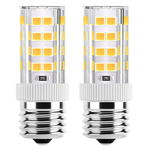 Microwave Oven Appliance 4W E17 LED Bulb (40W Halogen Bulb Equivalent) Warm White 3000K Non-Dimmable Ceramic Body Microwave Oven Light Bulb (2Pack)