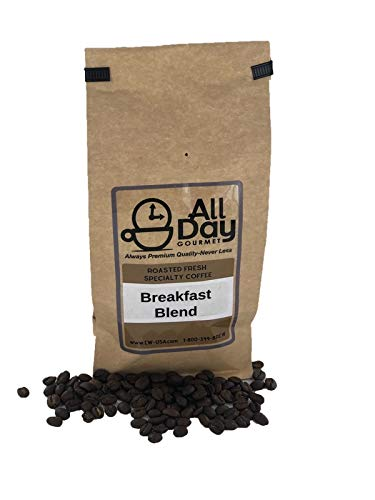 All Day Gourmet Fresh Roasted Coffee – Whole Bean, Full Bodied Flavor, Clean Finish Breakfast Blend, Bright and Crisp Flavor Coffee Beans (12 Oz)