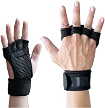 Lorpect Ventilated Weight Lifting Gloves ,with Built-in Wrist Wraps Full Palm Protection & Extra ,Grip Great for Pull Ups Cross Training Fitness Men & Women New (Black, L)