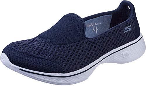 Skechers Performance Go Walk 4 Kindle - Zapatillas para Mujer sin cordones para caminar, Azul (Azul marino/Blanco), 11 C/D US Women