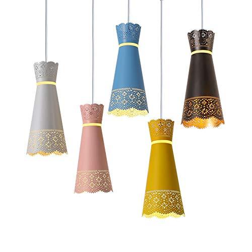 SLSMD stijl ijzeren kroonluchter, stijl metalen kroonluchter plafondlamp, smeedijzeren kroonluchter, keuken eetkamer, vensterbank, balkon, bloemenwinkel en gang