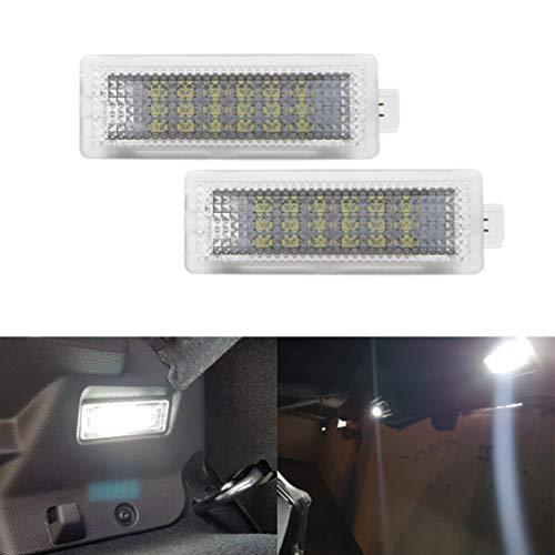 MOLEAQI 2X Coche Auto Led Cortesía Footwell Door Equipaje Luz de Maletero Lámpara para B-MW E90 E91 F20 F21 F10 F15 E83 E84 1 3 4 5 6 7-Series