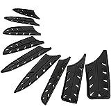 XYJ 9 PCS Protectores de borde de cuchillo de plástico Funda de cuchillo Protectores de cuchillo universales
