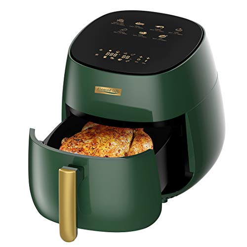 Elegant Life Air Fryer 5QT Electric Hot Oven, 7-in-1 Oilless Cooker LCD Touch Digital Screen Air Fryer Oven with Nonstick Basket & Recipe Book