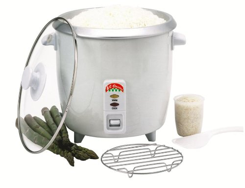 Benecasa BC-12418 Rice Cooker 10-Cup (Uncooked) with Glass Lid