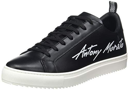 Antony Morato Herren Sneaker Screen IN Pelle Oxford-Schuh, Schwarz, 43 EU