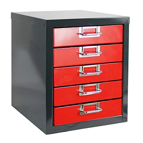 ADB Schubladenschrank Schubladenbox Werkzeugschrank mit 5 Schubladen 320x270x342 mm, aus Metall,...