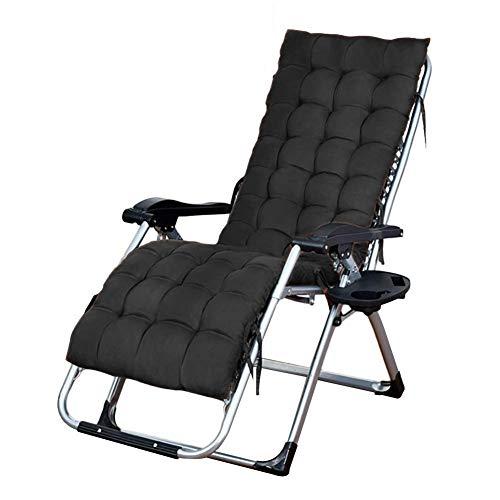 Deck Chair Portable Adjustable Folding Zero Gravity Chair Garden Outdoor Patio Extra Wide Sun Lounger for Family Lounge