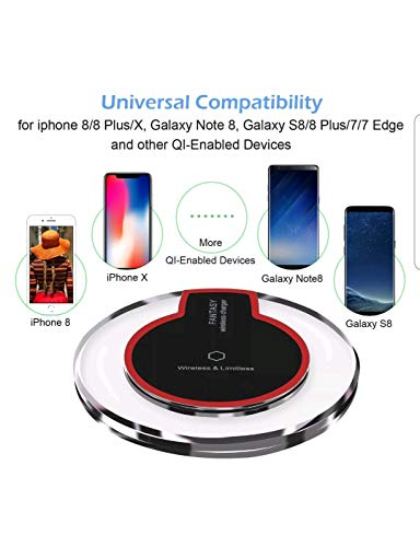 Fantasy Qi Wireless Charging Charging Mini Pad Robot Minions for Samsung Galaxy S6,Galaxy S6 Edge/Edge Plus,Note 5,LG G4, Nexus 6, SONY Xperia Z3V,LG G3,Nexus 5 7(2013) 4 Wireless Charger [Black]