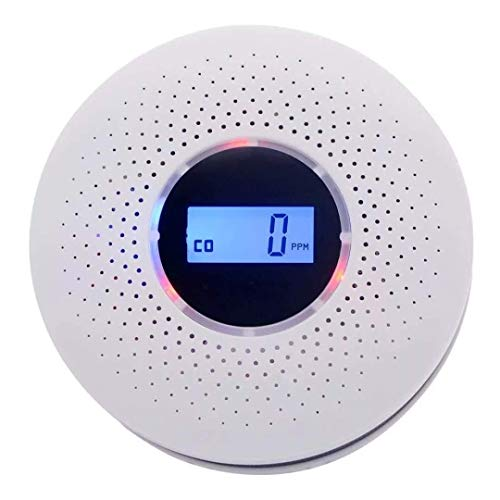 Smoke and Carbon Monoxide Detector  with LCD Display Battery Operated Smoke CO Alarm Detector Combo Unit