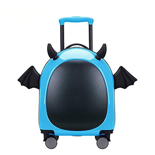 Mini cartoon trolley case, 16-inch handbagage, lichtgewicht en duurzaam, met vier wielen en ingebouwde wachtwoord slot koffer